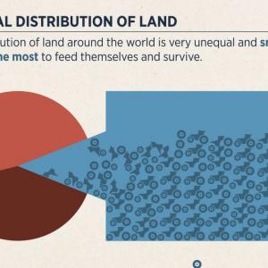 Die Verteilung von Land